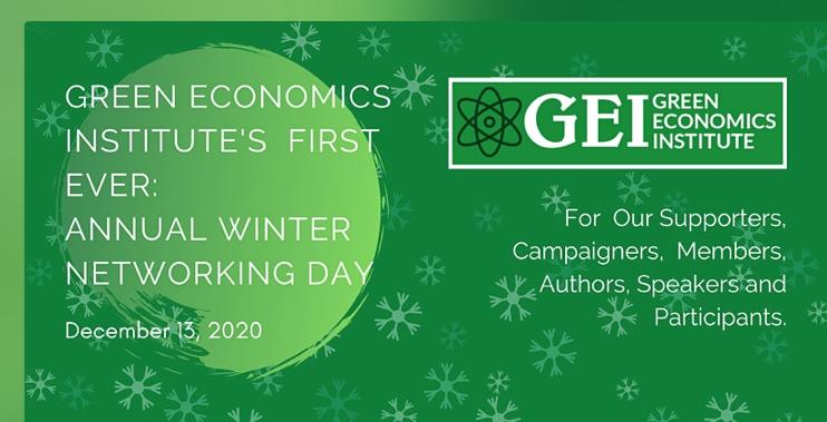 Green Economics Institute's first annual winter networking day