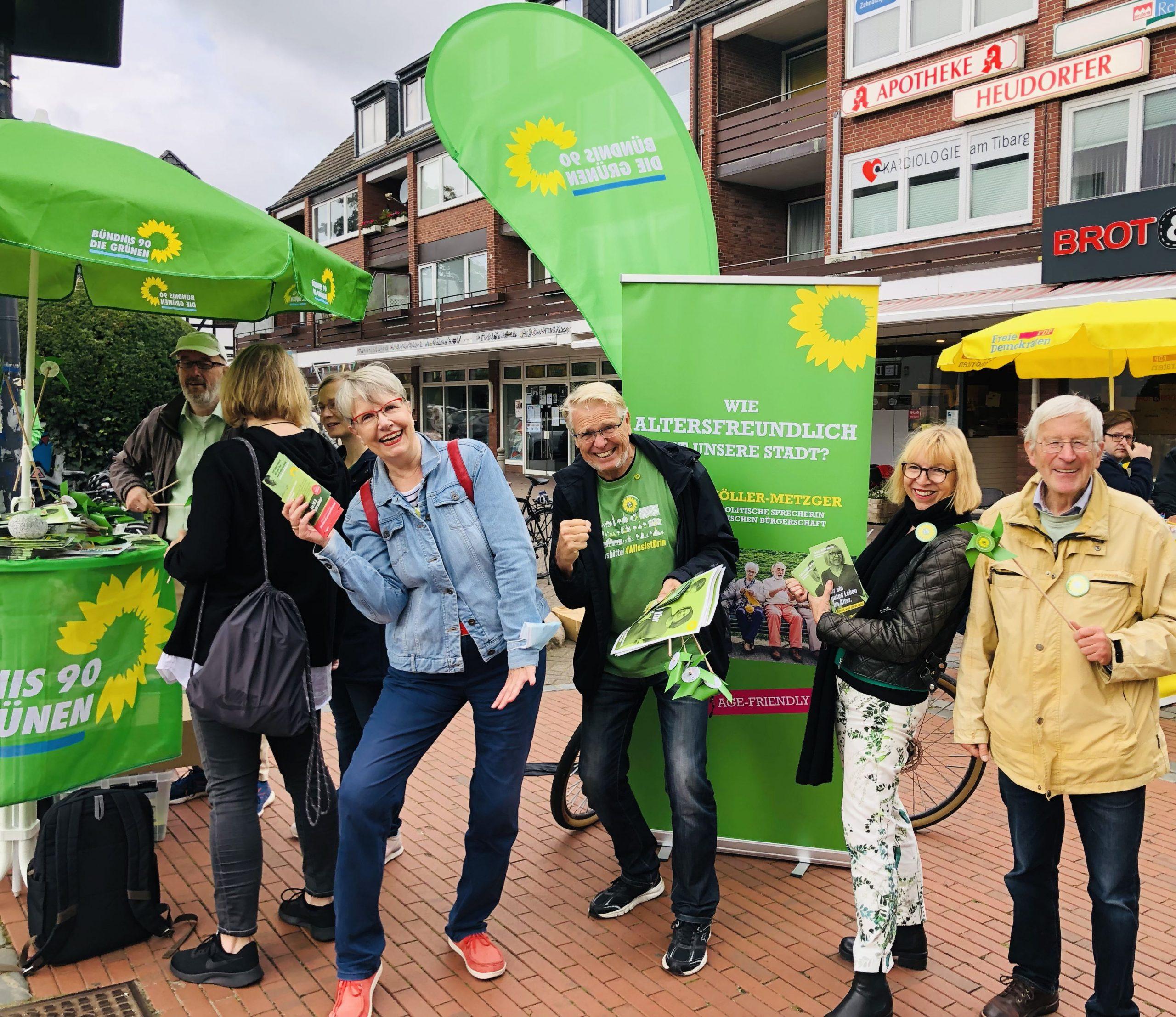 Campaigning in Niendorf