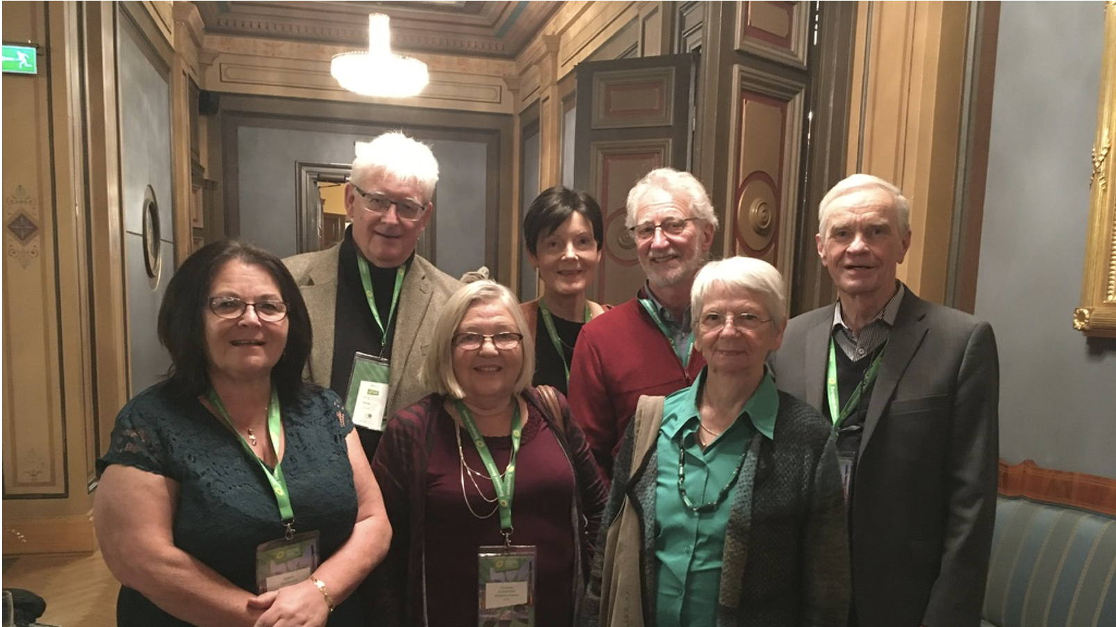ENGS delegation in Tampere 19 November 2019. From left: Agneta Granström, Frank Hauser, Vivianne Gunnarsson, Heidi Manns-Haatanen, Kris Fierens, Irmgard Seidler and Reino Lampinen.